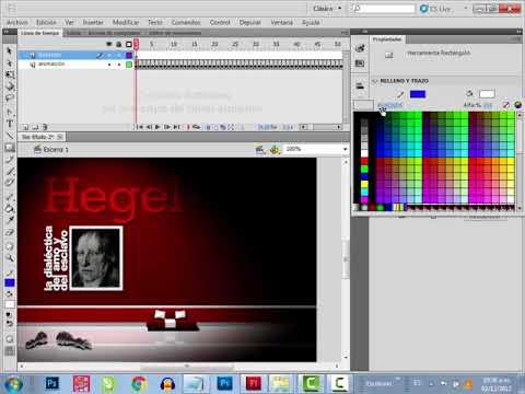 Presentación Flash con render 3d animado