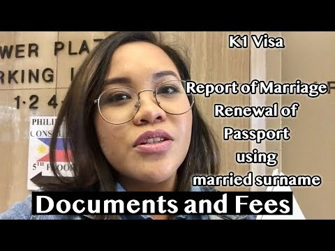 K1 VISA ROM And PASSPORT  RENEWAL USING MARRIED SURNAME DOCUMENTS + EXPERIENCE (LyndzyVLOGS)