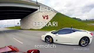 Tesla Model S P85D vs Ferrari 458 Italia