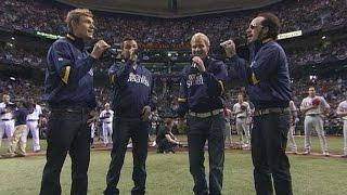 2008 WS Gm1: Backstreet Boys sing the national anthem