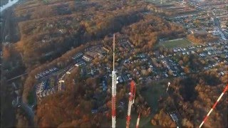 1276 feet tall radio tv tower in roxborough near philadelphia