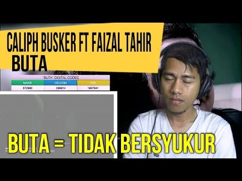 BUTA - CALIPH BUSKER ft FAIZAL TAHIR || MV Reaction #101
