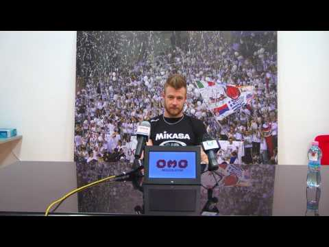 SuperLega, conferenza stampa pre Perugia - Civitanova di Ivan Zaytsev
