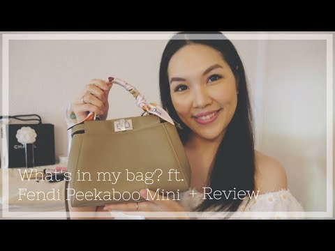 WHAT'S IN MY BAG?♥ FENDI PEEKABOO MINI | ANGELBIRDBB