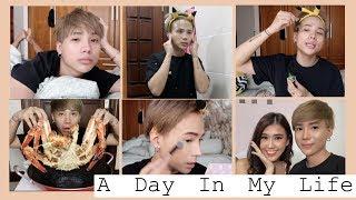 Một ngày của Ty   Skincare cho da mụn, makeup cho Ngọc Thảo, lần đầu ăn cua hoàng đế  