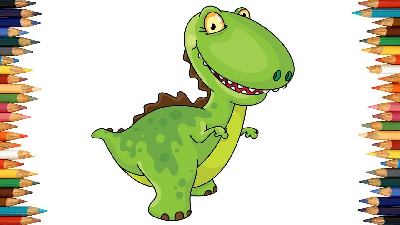 Dinosaur Coloring Pages For Kids ♥ Dinosaur Coloring Book ♥ Part ...