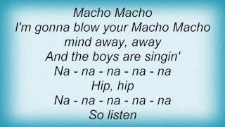 Falco - Macho Macho Lyrics