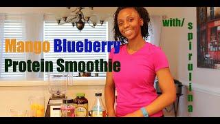 Mango Blueberry Protein Smoothie