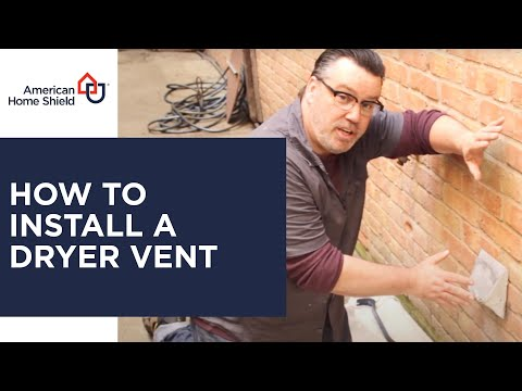 Dryer Repair - Dryer Vent Installation - American Home Shield