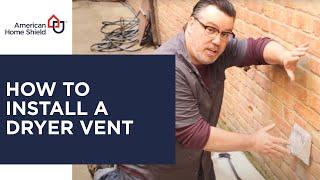 Dryer Repair - Dryer Vent Installation - American Home Shield