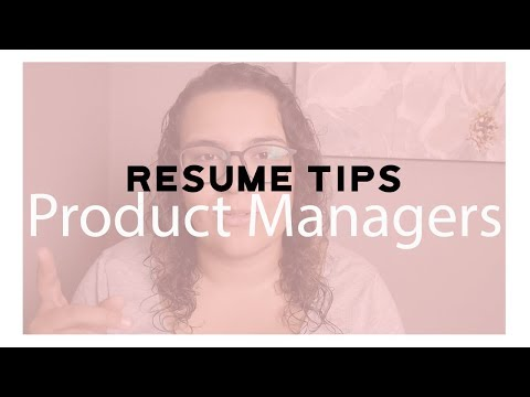 Resume Tips For Product Managers.