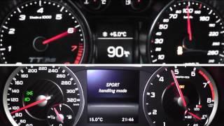 2013 Audi TT RS Plus 360 HP vs. 2013 Mercedes-Benz A 45 AMG Limousine 360 HP 0-200 km/h Acceleration