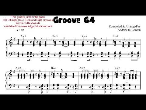 A groove from the book 100 Ultimate Soul, Funk and R&B Grooves for Piano and Keyboards