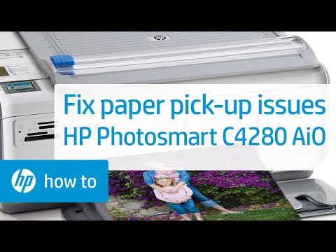 Fixing Paper Pick Up Issues Hp Photosmart C4280 All In