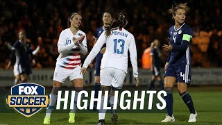 90 in 90: Scotland vs. United States | 2018 Women's International Friendly Highlights