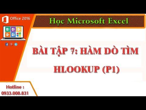 Học Microsoft Excel, Tin học văn phòng Hàm dò tìm Hlookup