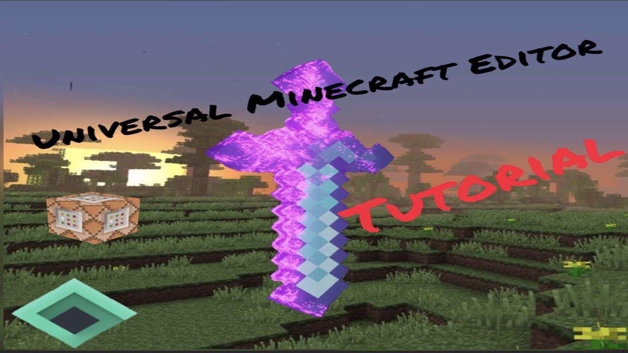 Universal Minecraft Editor  Custom Enchants - YouTube