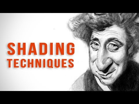 Drawing and Shading Gene Wilder - Caricature