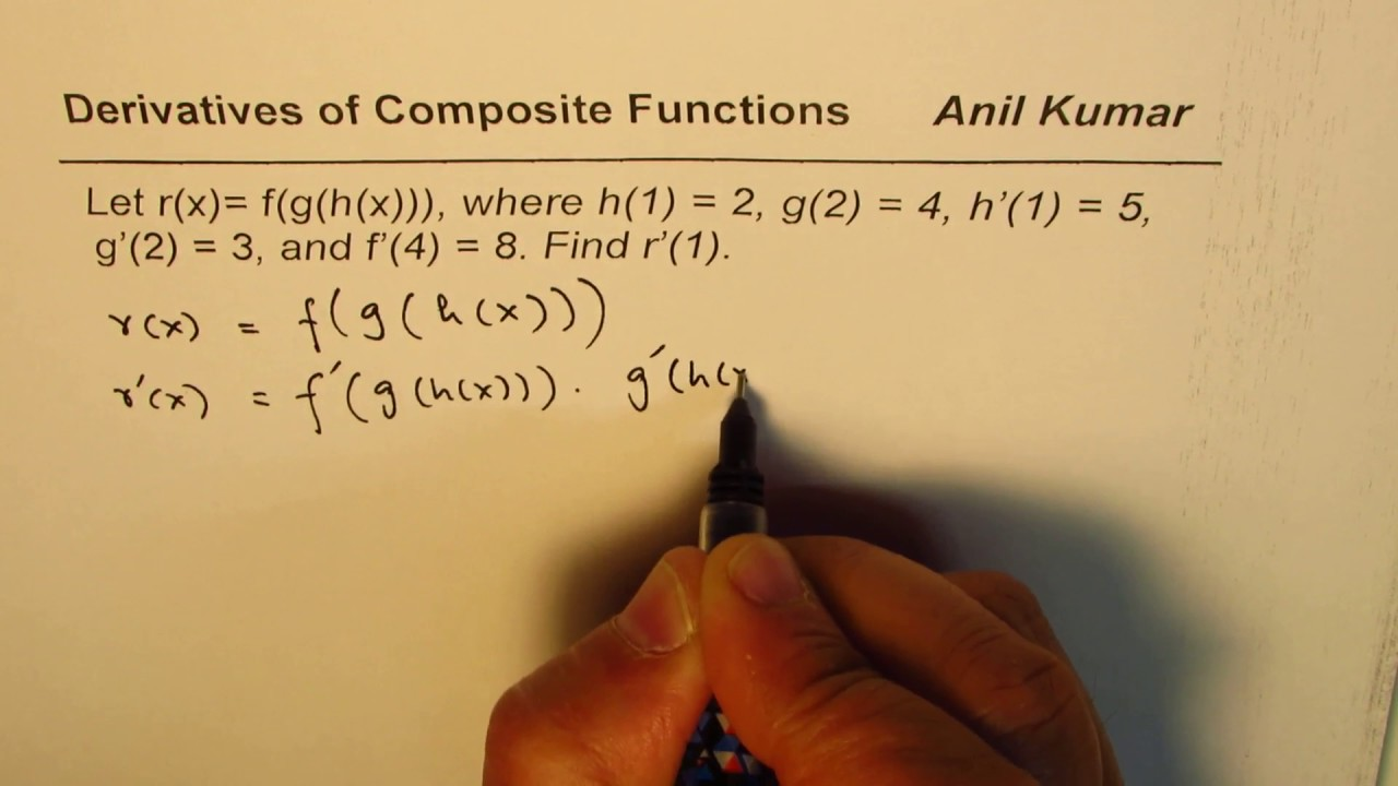 How to find derivative of composite function given parameters how to find derivative of composite function given parameters important ccuart Images