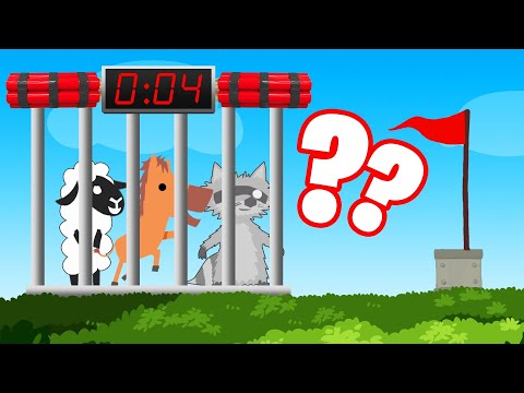 ESCAPE The CAGE IN TIME Or EXPLODE! (Ultimate Chicken Horse)