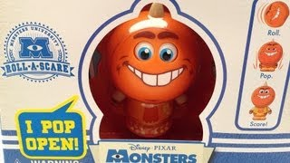 GEORGE SANDERSON MONSTERS UNIVERSITY MOVIE ROLL-A-SCARE TOY REVIEW BY MITCH SANTONA