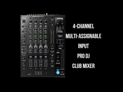 DENON DJ X1850 PRIME - 4 Channel Pro DJ Club Mixer - New Product 2020!