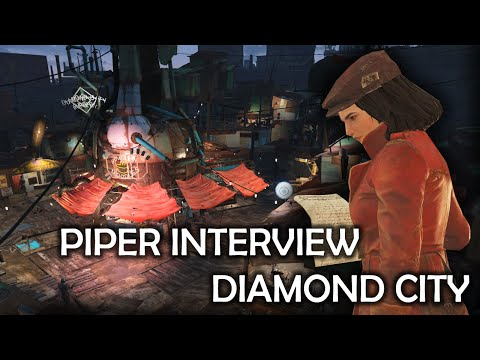 Fallout 4 - Piper Interview Diamond City residents