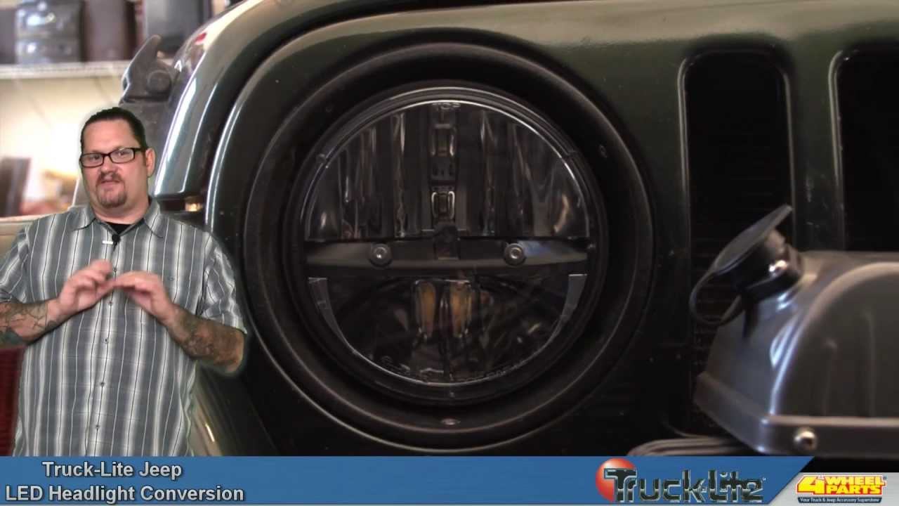 Truck Lite Led Headlight Conversion For The Jeep Wrangler
