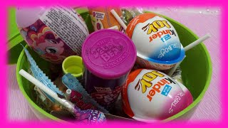 Candy Chocolate SURPRISE EGG Videos for Kids Kinder Joy ChupaChups Trolli @ Toys World