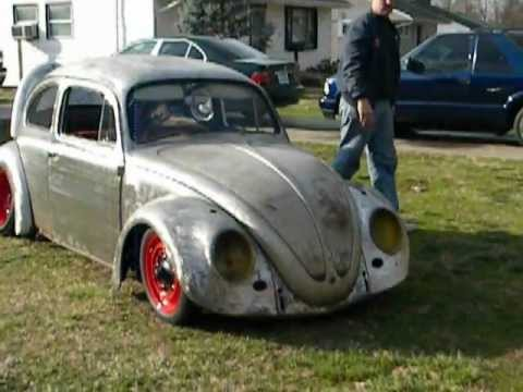 My slammed 62 fatpost vw beetle bug first ride part2