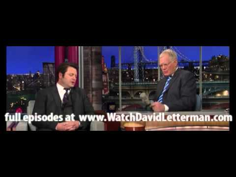 Nick Offerman in Late Show with David Letterman March 13 ...