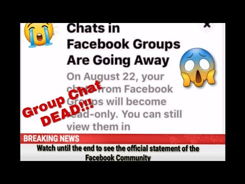Chats In Facebook Groups Going Away   Official Statement From Facebook Community