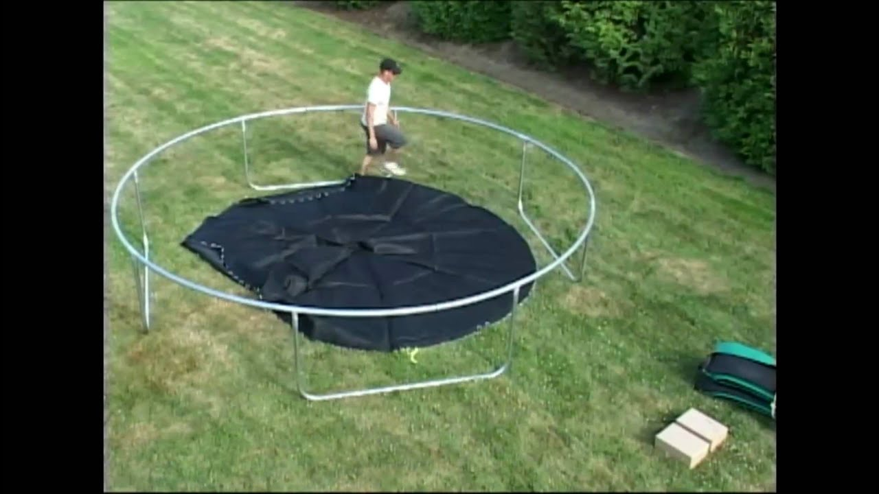 Super Fun Trampoline Assembly Youtube