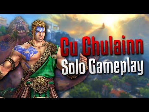 Smite: WHAT IS THIS MATCHMAKING?!- Cu Chulainn Solo Gameplay