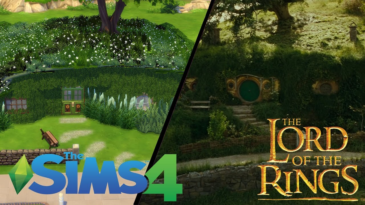 hobbit house the lord of the rings movie set recreation the sims 4 speed build youtube. Black Bedroom Furniture Sets. Home Design Ideas
