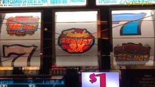 BIG WIN 😍Triple Double Red Hot - $1 Slot - 5 Lines @ Pechan…