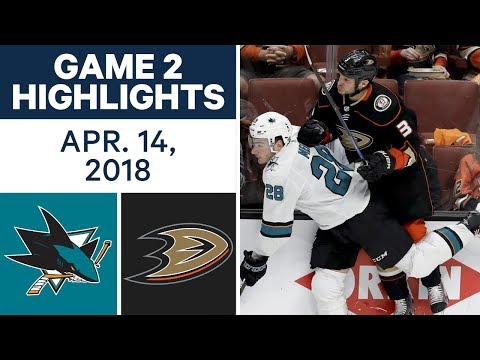 NHL Highlights | Sharks vs. Ducks, Game 2 - Apr. 14, 2018