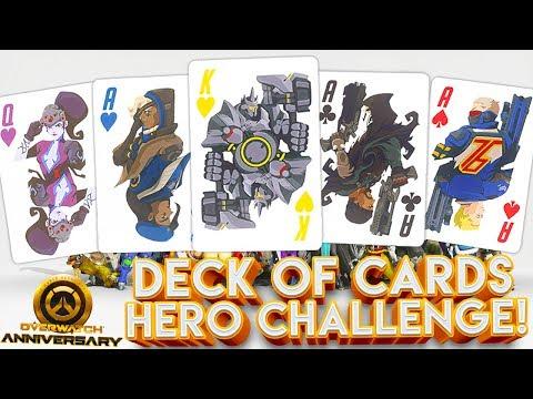 OVERWATCH ANNIVERSARY DECK OF CARDS CUSTOM CHALLENGE!?