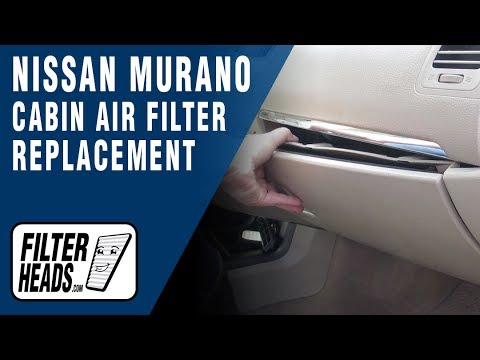 how to replace cabin air filter nissan murano youtube