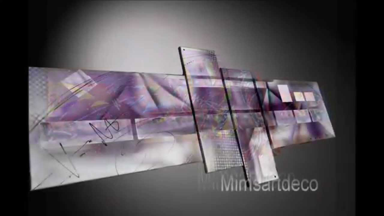 Tableaux abstrait moderne art contemporain youtube - Tableau art contemporain design decoration ...
