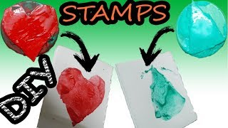 DIY Stamps Using Plastic Bottles Cap-Back To School