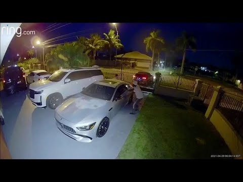 Video shows carjacker steal 2 luxury cars from Westchester resident