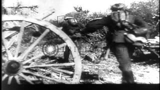 Seventh United States Army advance through streets in Montelimar,Southern France ...HD Stock Footage