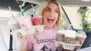 TRYING MY SUBSCRIBERS Favorite Starbucks Drinks!!   Rydel Lynch