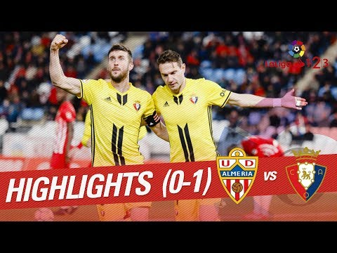 Resumen de UD Almería vs Osasuna (0-1)