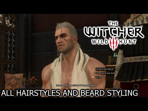 the witcher 3 wild hunt all hairstyles and beard styling basic