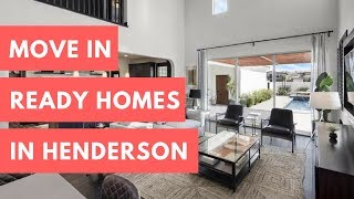 Move-in Ready Homes For Sale In Green Valley & Henderson
