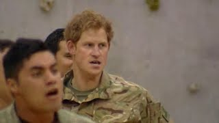 Prince Harry performs Haka in New Zealand