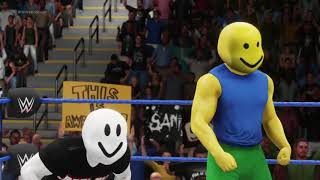 WWE 2K18 Roblox Guest and Roblox Noob vs Bendy and Boris