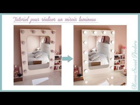 Diy espejo tocador con luces vanity mirror with lights doovi - Miroir maquillage lumineux professionnel ...